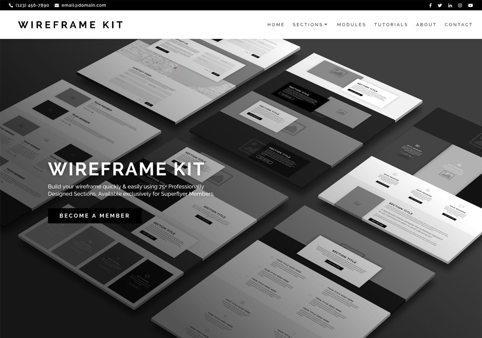 Wireframe Kit for Super Themes